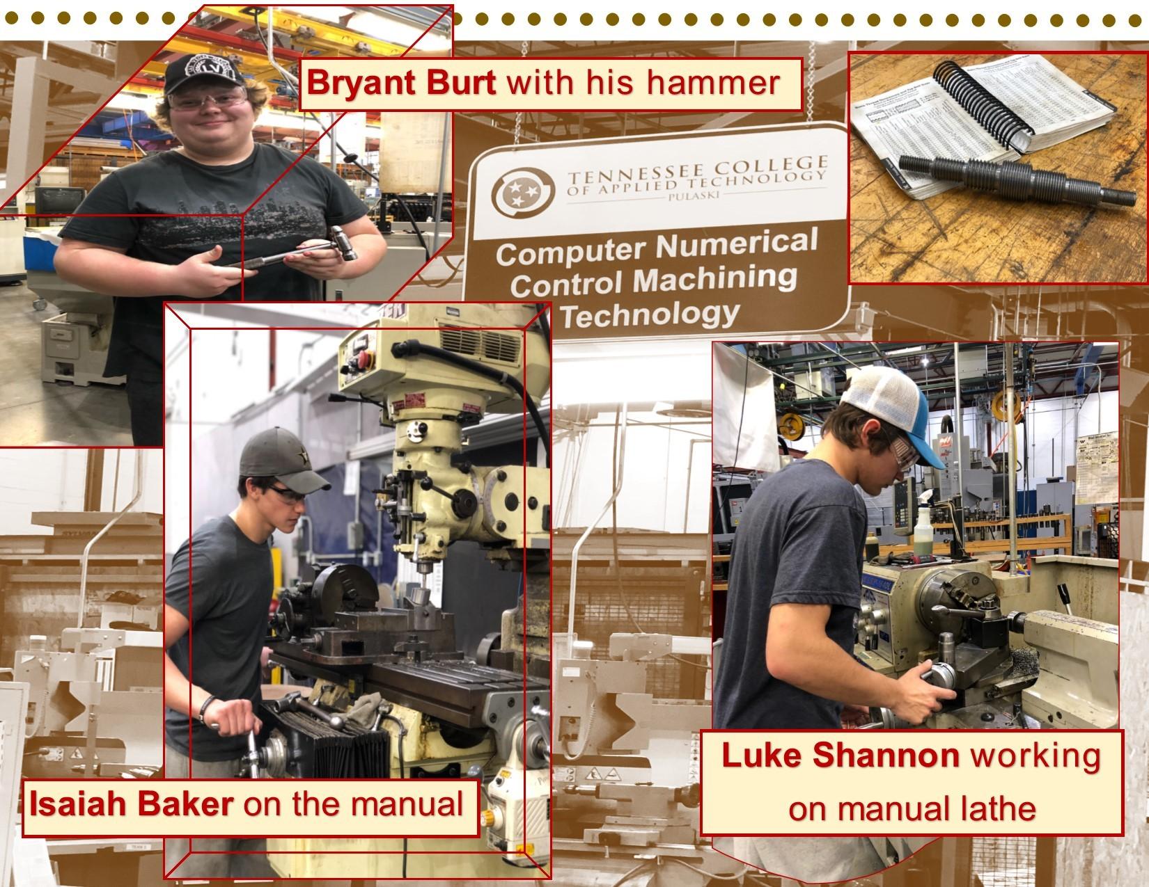 CNC Machining Technology at work!!   TCAT Pulaski